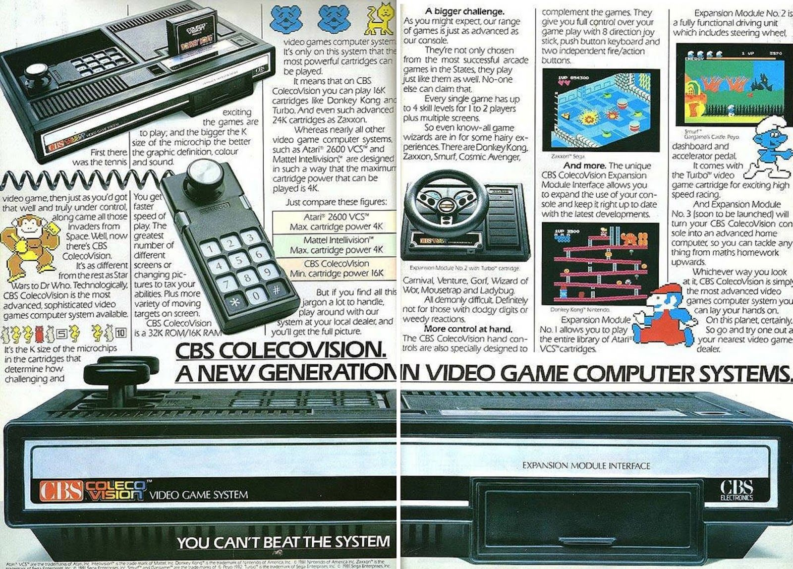 Colecovision Advertisement  | Vintage Toys | Video game