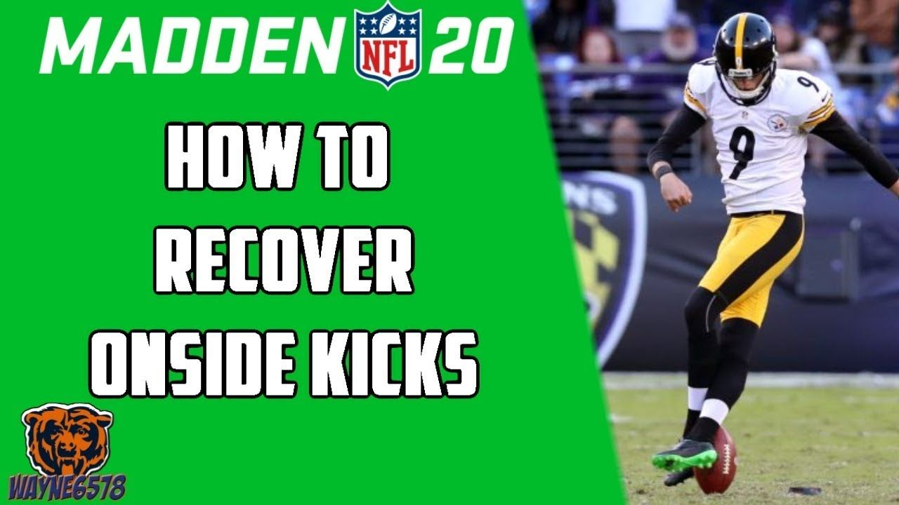 How To Recover An Onside Kick In Madden 20 Surprise Onside Kick Madden In 2020 Madden Madden Nfl Kicks