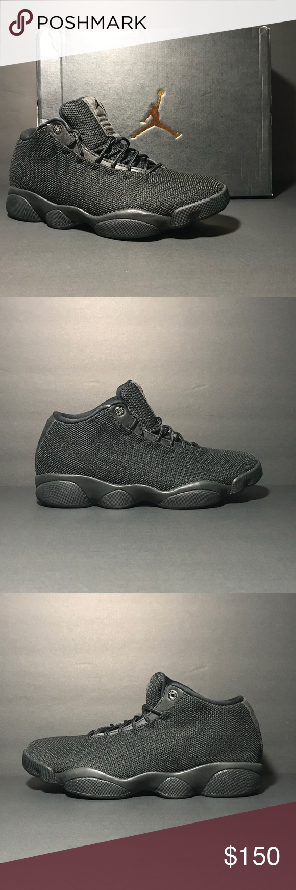fe7cdaf45a88f8 New Jordan Horizon Low Triple Blk Limited Retro The Air Jordan Horizon Low  doesn t compromise on comfort as Nike blends the iconic styling with modern  ...