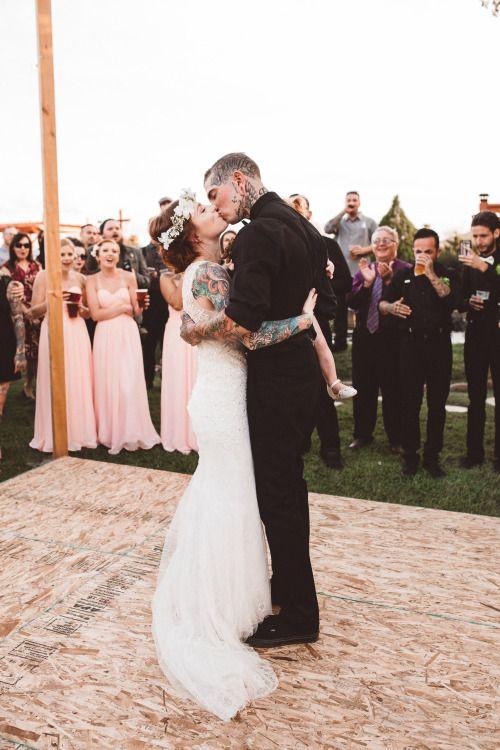 Wedding On Tumblr Brides With Tattoos Wedding Dress Sequin Wedding