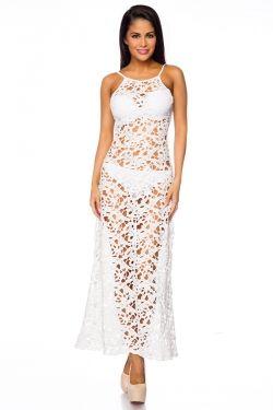 gehaakte jurk wit