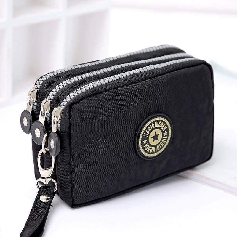 fb683e95ad5 Women s Wallets Washer Phone Three Zippers Up bag   Products   Coin ...