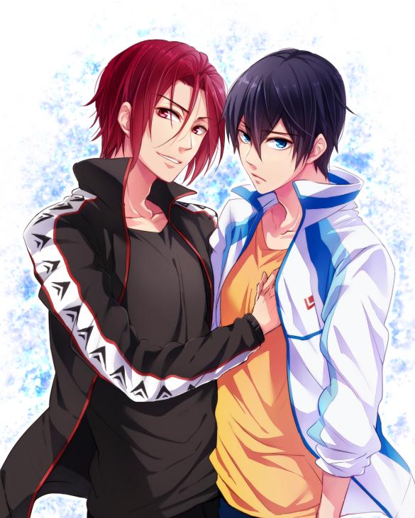 Rin & Haru Free! Iwatobi swim club by はつ on pixiv