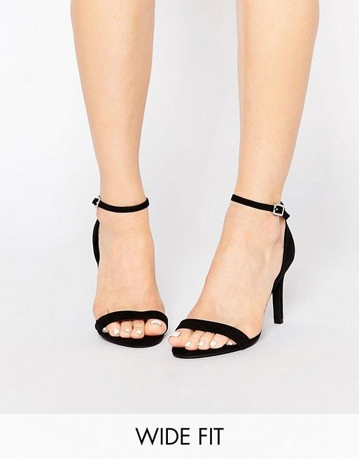 New Look Wide Fit  New Look Wide Fit Strappy Heeled Sandal