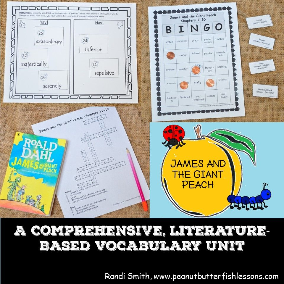 This Vocabulary Unit Will Help You Teach Tier 2 Words To Your Students Using 58 Words From James And The Giant Peach Vocabulary The Giant Peach Context Clues
