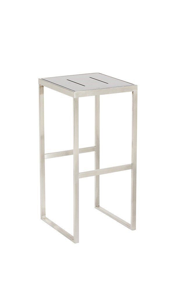 Quot Marine Quot Outdoor Stainless Steel Bar Stool In White
