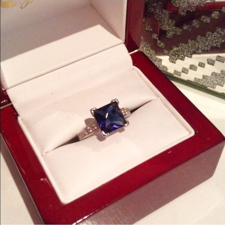 Tanzanite Blue Sterling Silver Ring Silver ring Sterling silver