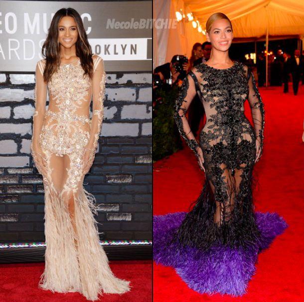 Ciara vs Beyonce Givenchy gown...... ciara nailed it ...