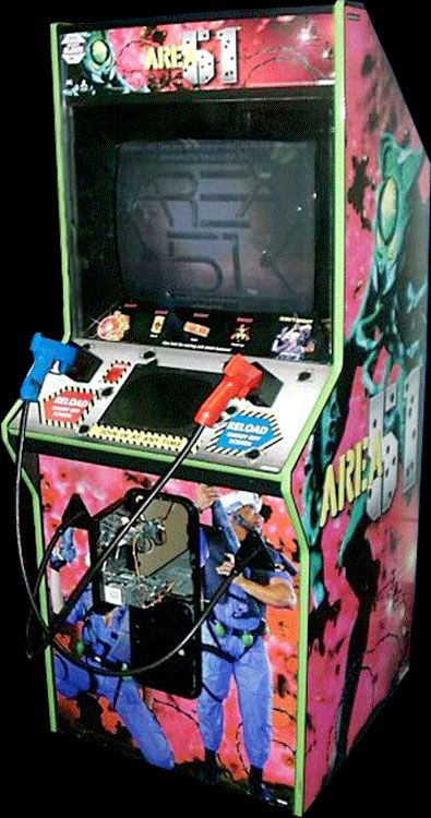 Area 51 Let Atari Fans Battle Alien Zombies Via Co Op Light Guns Running On Cojag 8 Bit Central Retro Arcade Games Retro Arcade Arcade Game Machines