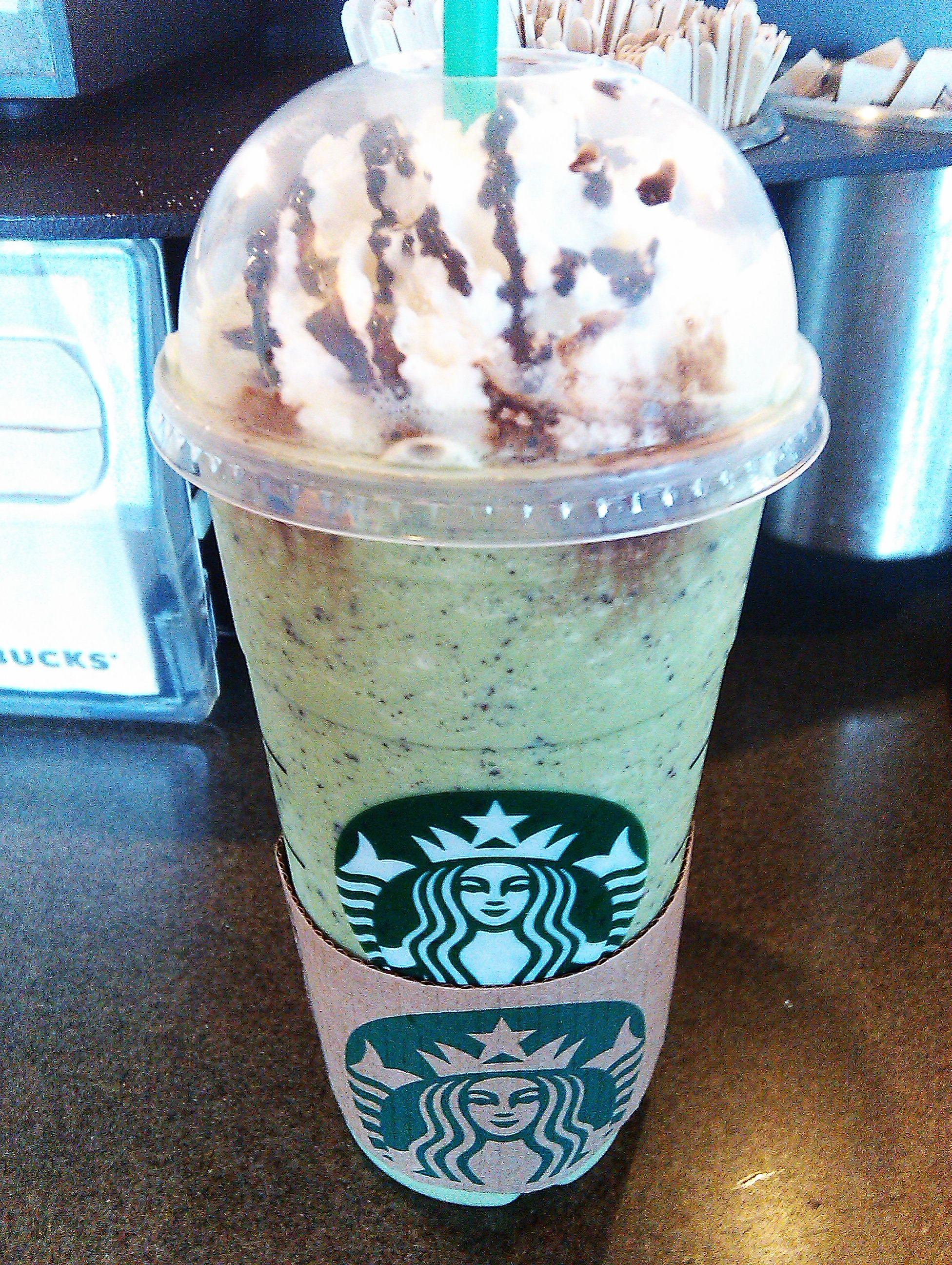 Starbucks peppermint green tea with java chip Frappuccino. Taste ...