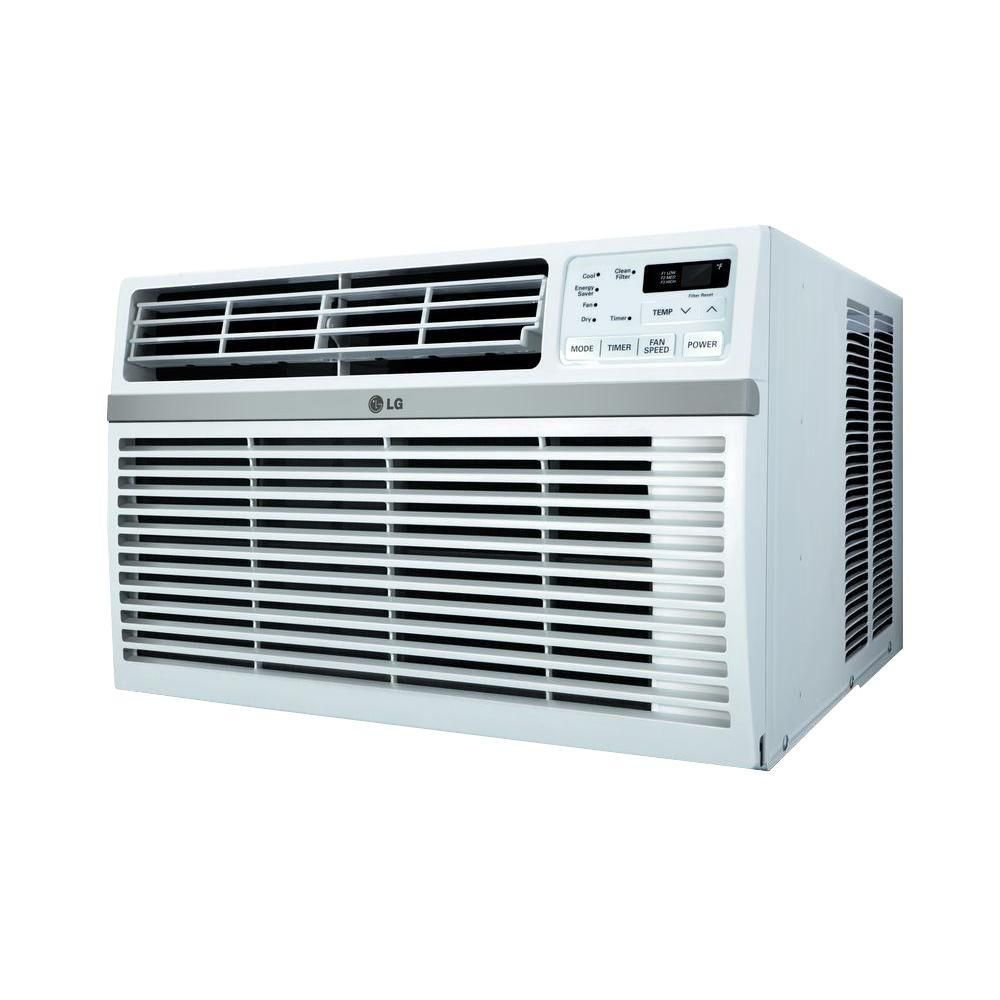 Lg Electronics 10 000 Btu Window Air Conditioner With Remote Lw1015er The Home Depot Best Window Air Conditioner Window Air Conditioner Room Air Conditioner