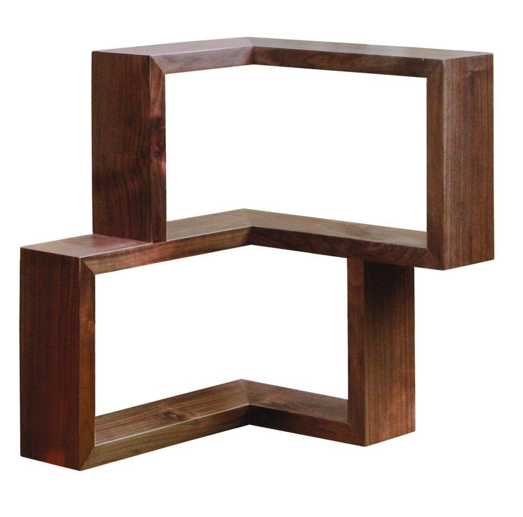 Franklin Shelf Solid Wood Corner Shelf Wood Corner Shelves