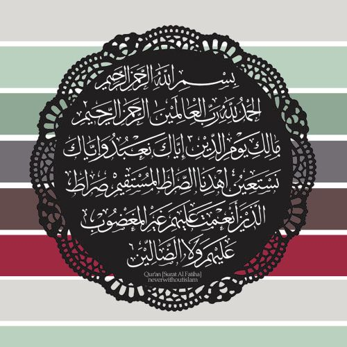 Translation of Surah Al-Fatiha (The Opening) In the name of Allah, the Beneficent, the Merciful Praise be to Allah, Lord of the Worlds, The ...