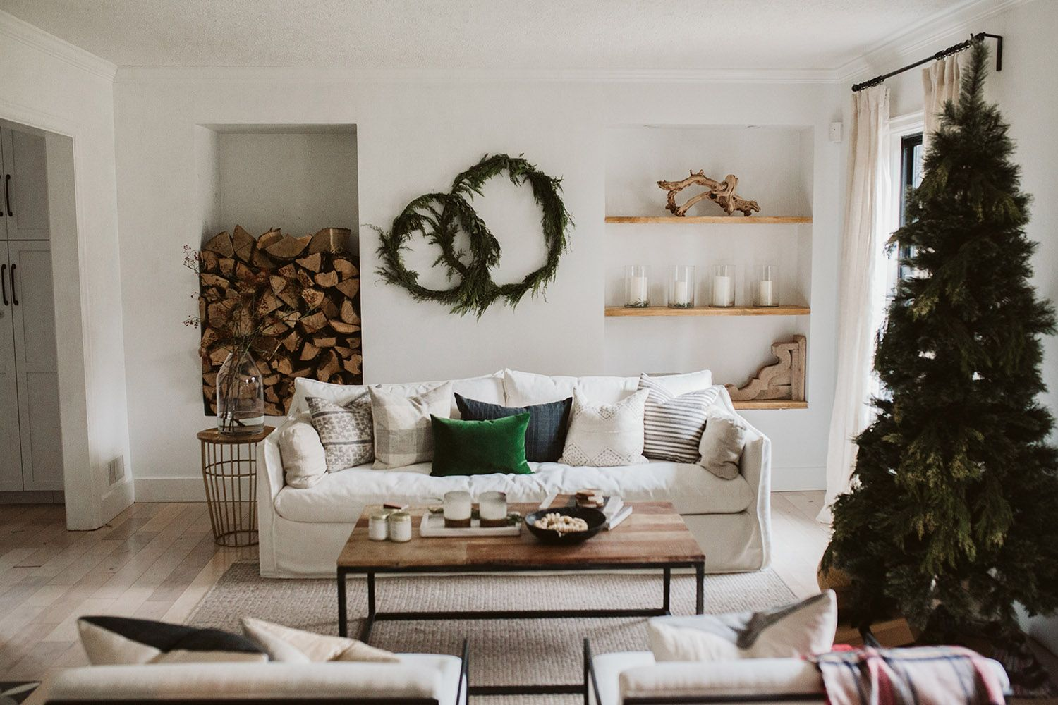 Refresh Your Living Room For The Holidays Rue Christmas Decorations Living Room Christmas Living Rooms Christmas Decor Diy