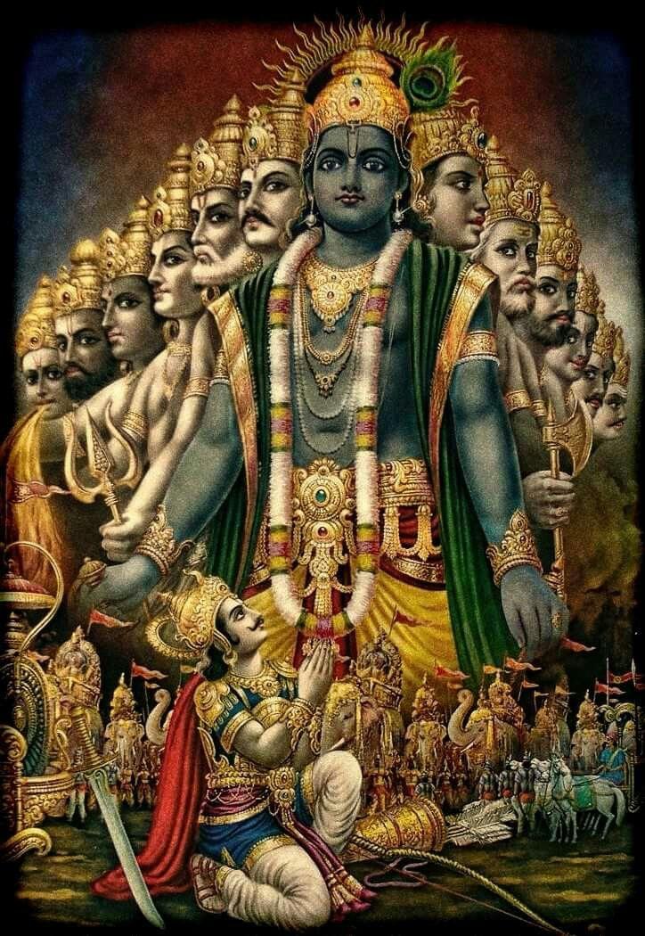 Universal form! Jai Sri Krishna _/_ | Lord Krishna | Pinterest ...
