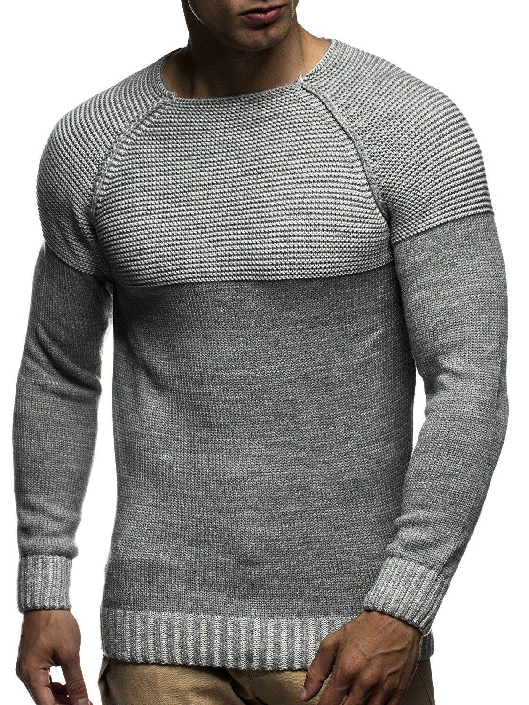 newest 42462 63199 LEIF NELSON Herren Strickpullover Pullover Sweatshirt ...