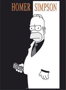 Scarface Homer. He has a controller instead of a Gun.