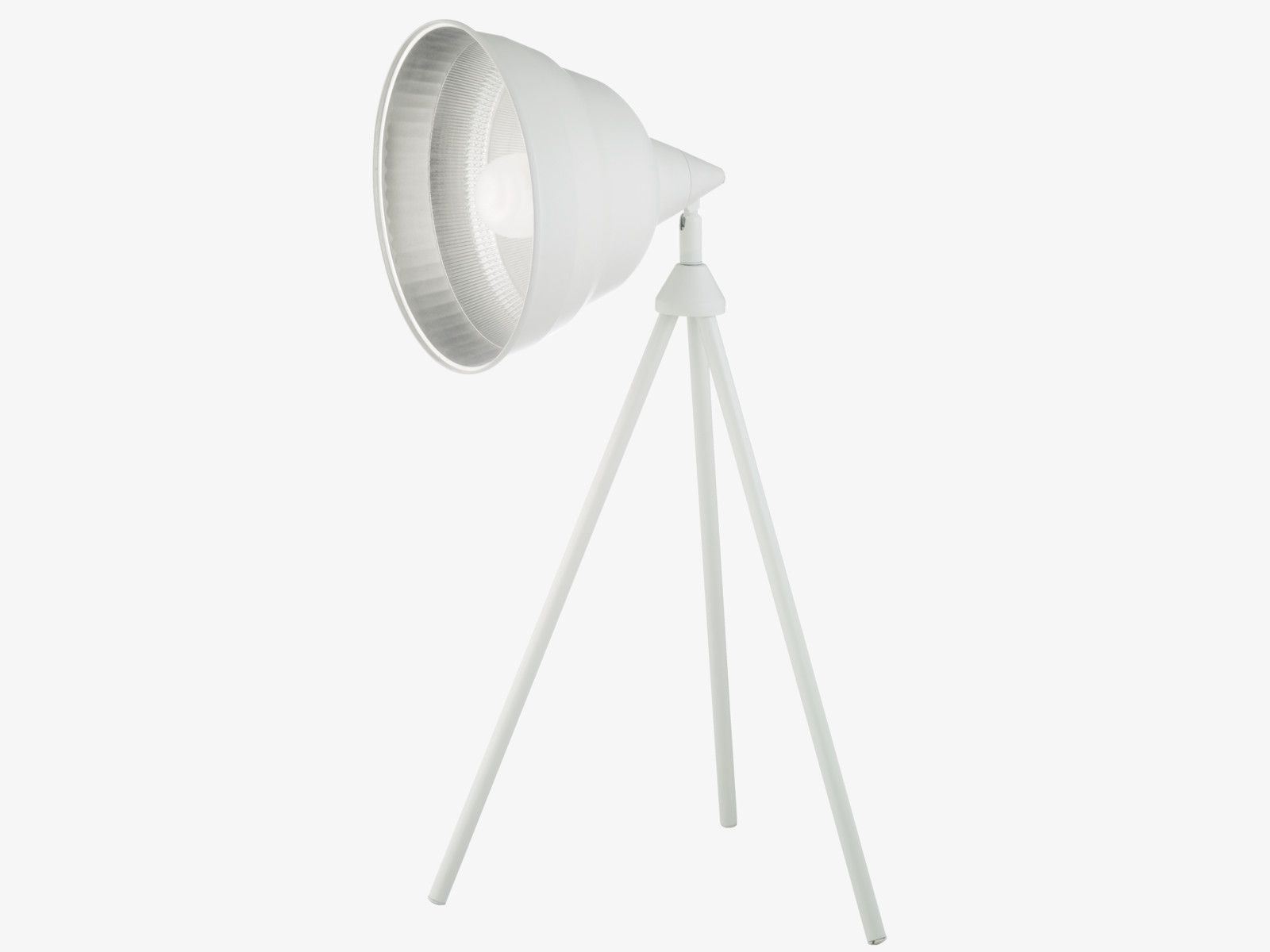 PHOTOGRAPHIC WHITES Metal White metal tripod desk lamp base ...