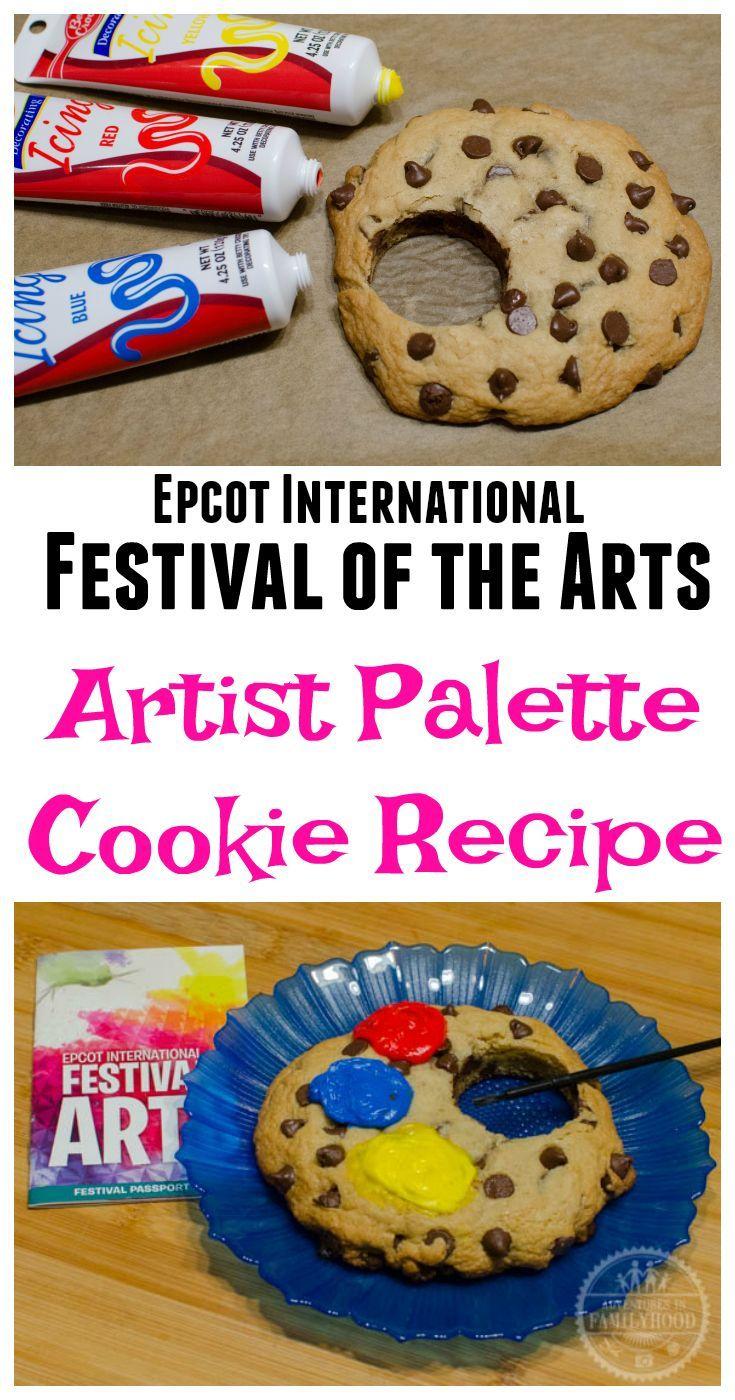 Artist Palette Chocolate Chip Cookie Recipe | Disney world ...