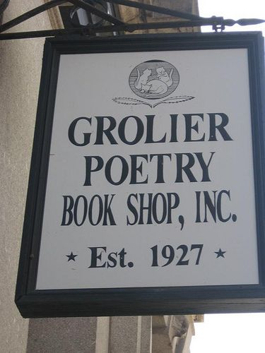 "Grolier Poetry Book Shop in Cambridge, Massachusetts, United States.  Poetry is honored every day at the Grolier Poetry Book Shop in Harvard Square, it lays claim to being the ""oldest continuous bookshop"" devoted solely to the sale of poetry and poetry criticism in the United States"