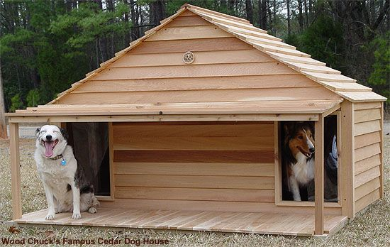 Font Strong Br Shown With I Optional Porch Deck B Large Cedar Duplex Dog House W Free Shipping
