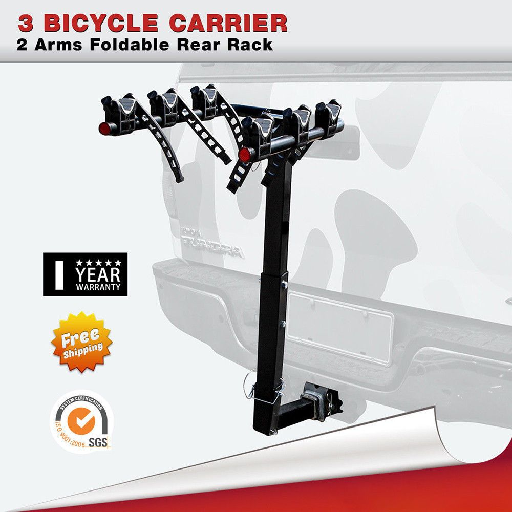 Bike Rack 3 Bicycle Hitch Mount Carrier Car Truck W 2 Inch