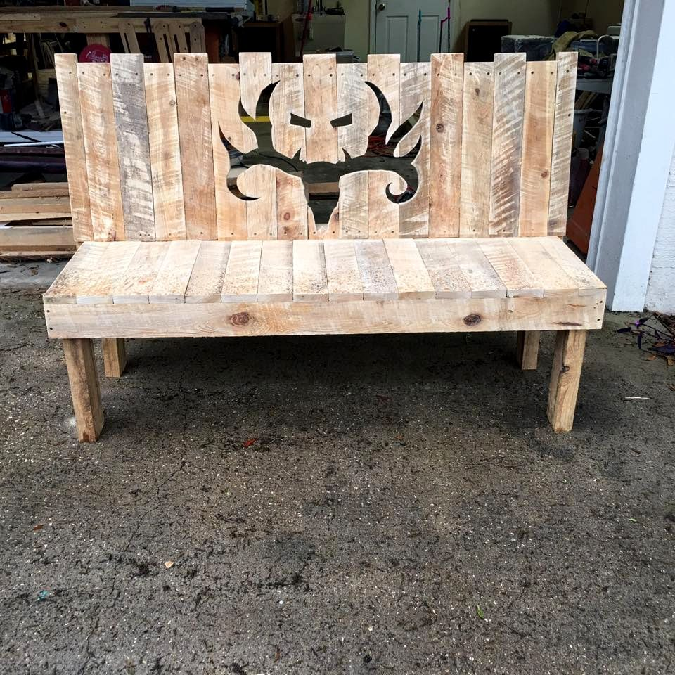 diy wooden pallet bench with artful backrest pallet bench wooden