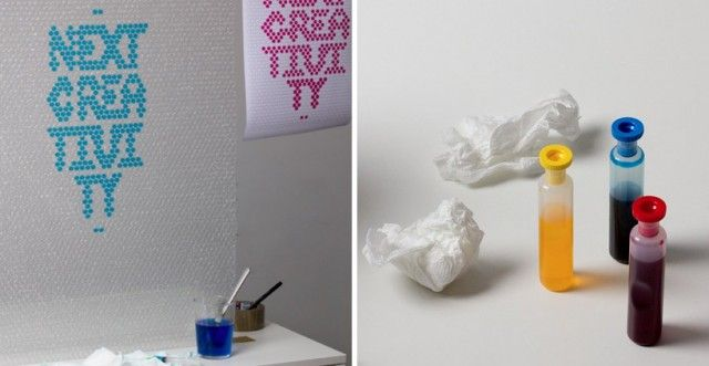 bubble wrap typography papier bulle studios de design graphique et studios de design. Black Bedroom Furniture Sets. Home Design Ideas