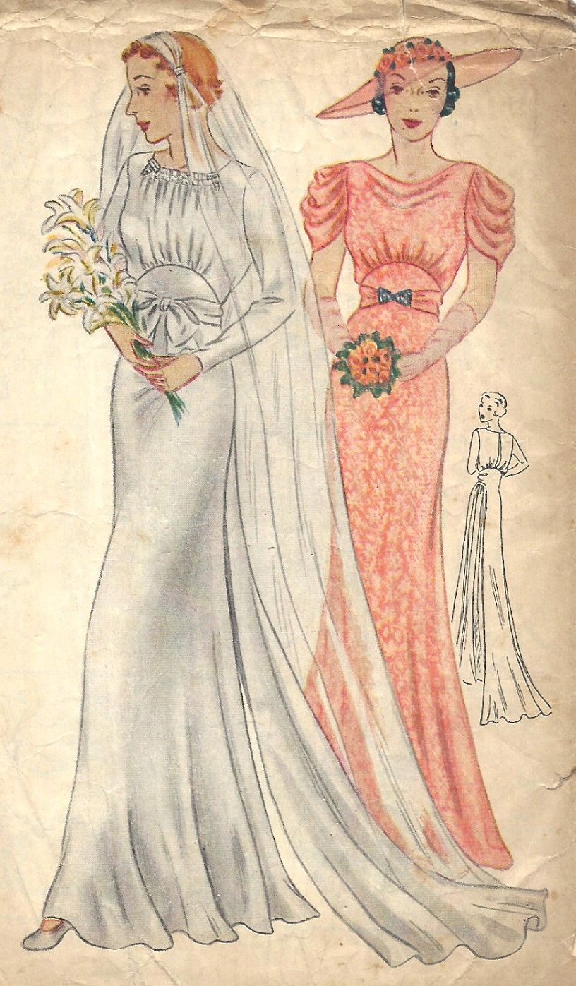 Wedding dress patterns with sleeves  s wedding gown anf bridesmaids dress pattern Beautiful  Robes