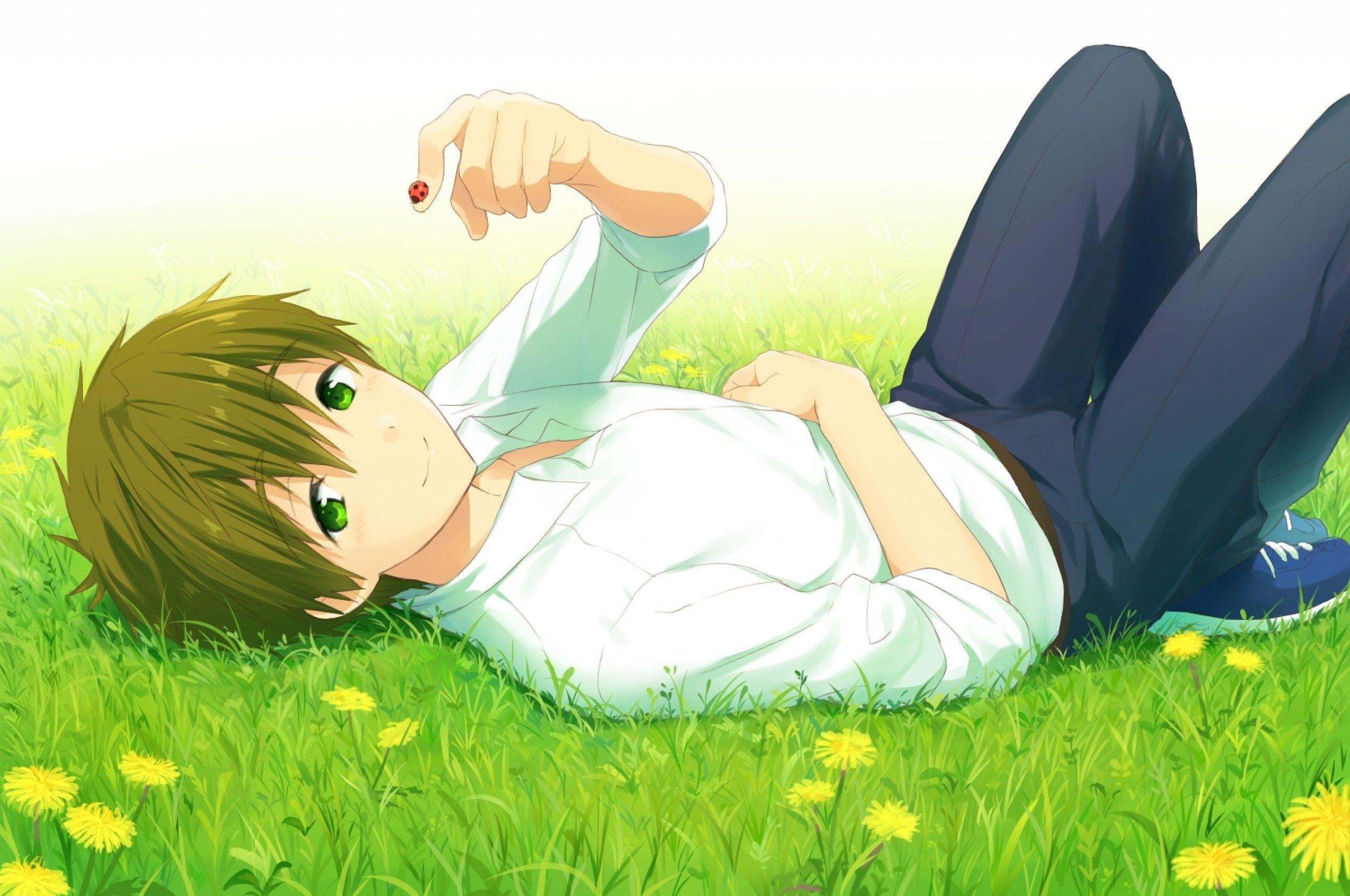 Tachibana Makoto Free Lying Down Shoujo Grass