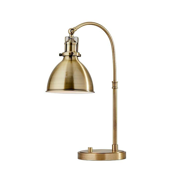 Adesso Abbott Incandescent Adjustable Desk Lamp 20 H Antique Brass 3906 21 Staples Lamp Desk Lamp Adjustable Desk Lamps
