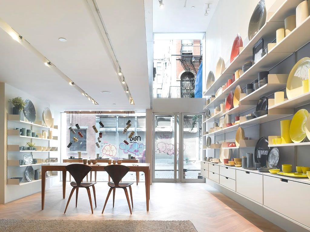 retail shop shelving system design of mud australia showroom new york design ideas inspiration designers raum - Retail Store Design Ideas