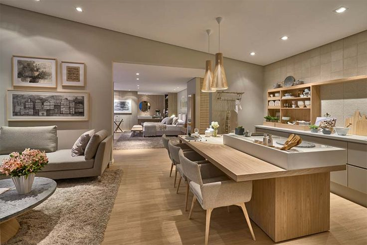 Moderne Weiße Küchen, Offene Küchen, Küchen Design, Ideen Für Die Küche,  Haus Design, Offener Plan, Innenarchitektur, Lange Küche, Esszimmer