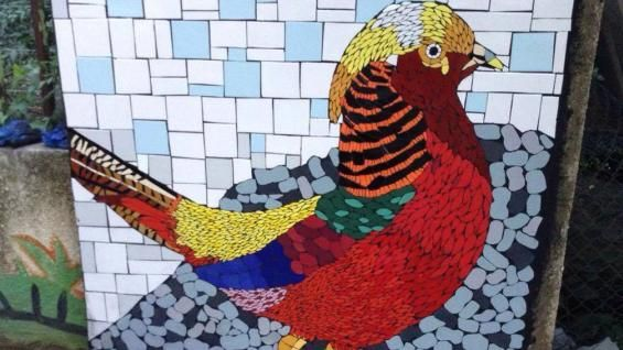 DÍA DEL ANIMAL. Algunas de las obras que quedaron plasmadas (Gentileza Parque Ecológico Urbano).