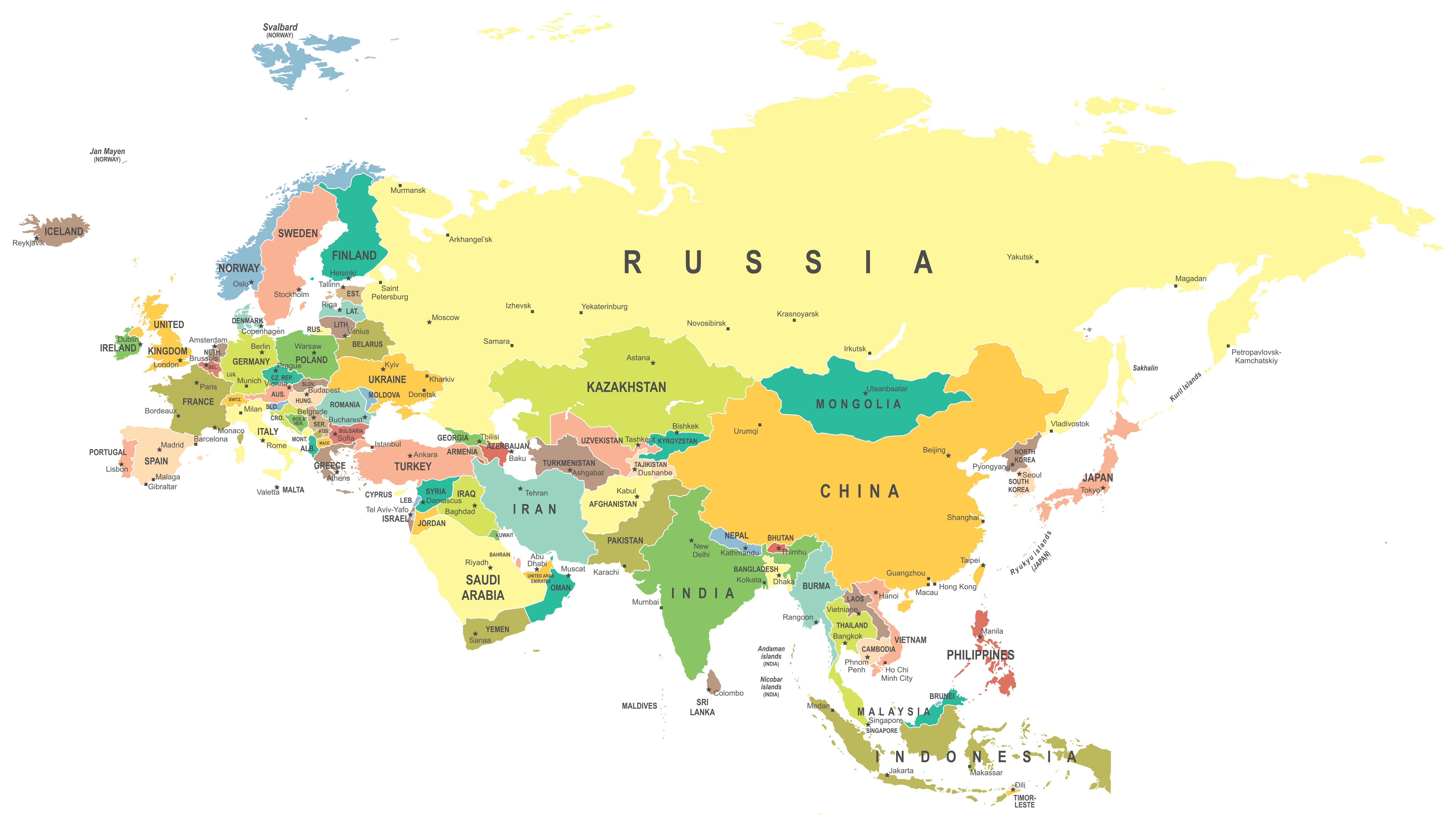 europe and asia border map Pin on Maps of the world