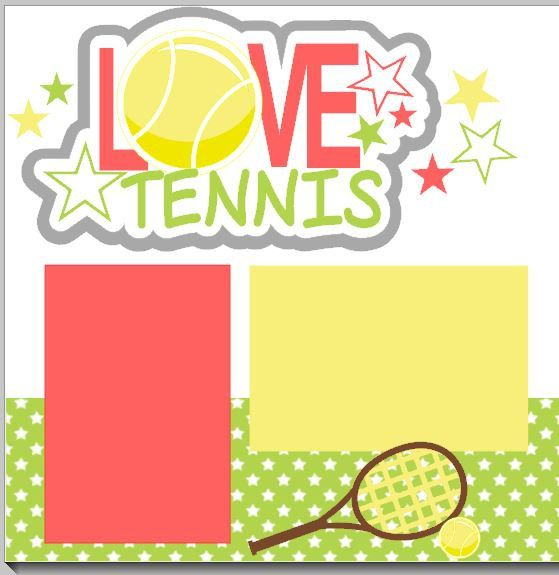NEW My Love Tennis 2page 12 X 12 Scrapbook By