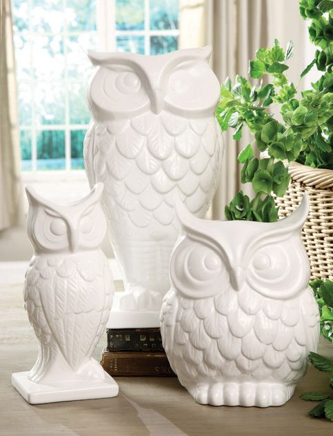 White Owl Ceramic Vases Like These Because I Owls
