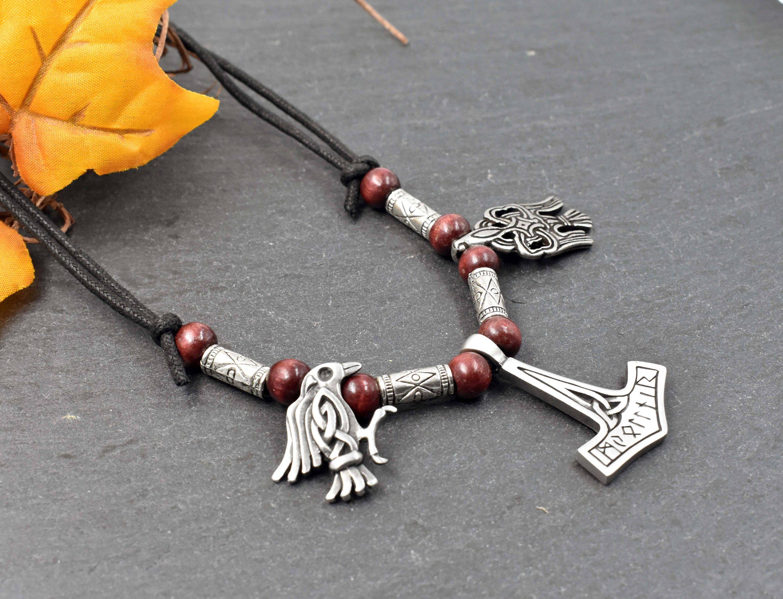 Vikings Schmuck Anhänger Metal MJÖLNAR Thorshammer aus Bronze Mittelalter