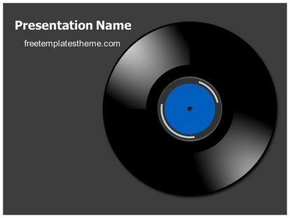 Download Free Vinyl Powerpoint Template For Your Powerpoint