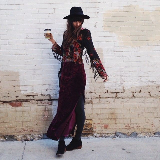 velvet maxi dress by fpambermoore on Free People