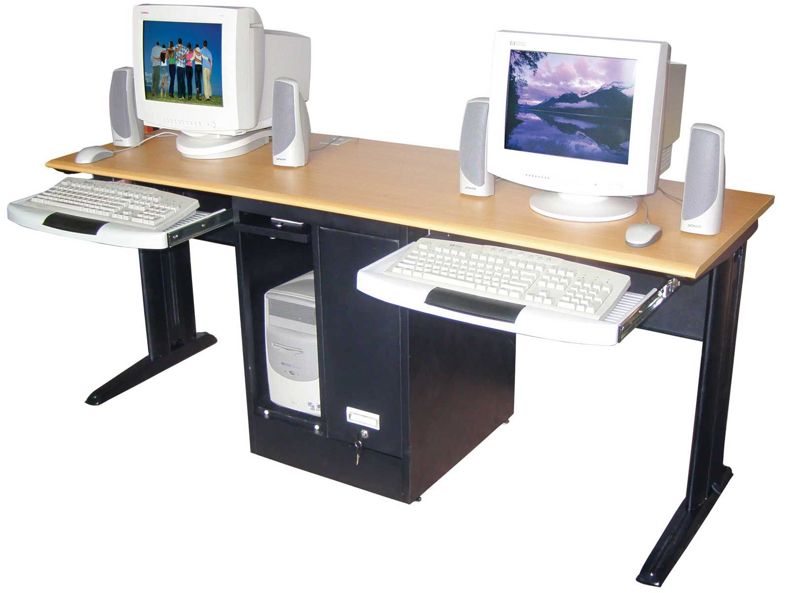 Two Person Desk Home Office With Innovative CPU Drawer Design For Two  Person Desk For Home Office   Two Person Desk Home Office Furniture. Mural of Two Person Workstation for Office and Home Office