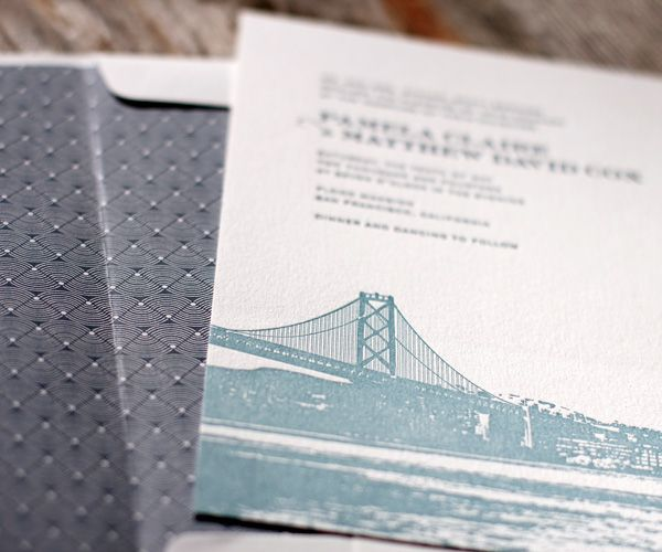 Charmed san francisco letterpress wedding invitation by bella charmed san francisco letterpress wedding invitation by bella figura stopboris Choice Image