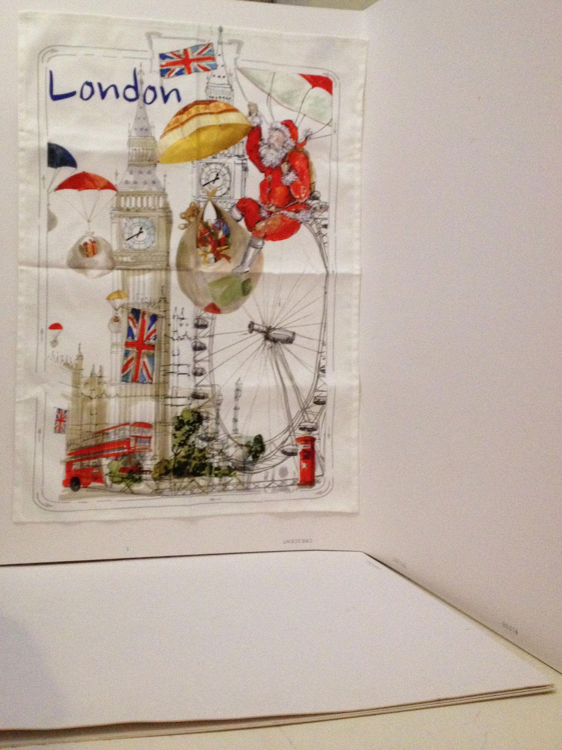Le Telerie Toscane Cotton Hand Tea Towel Holiday Christmas In