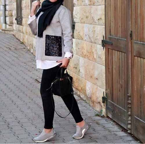 Hijab style with sneakers \u2013 Just Trendy Girls