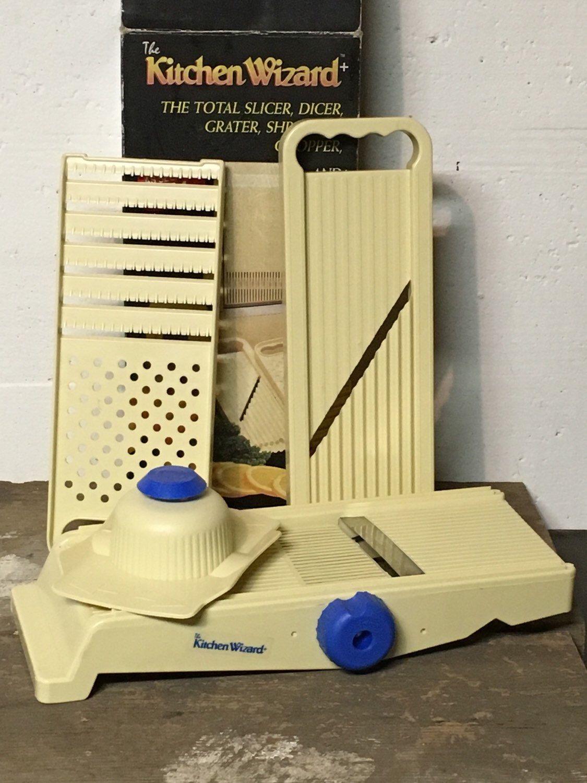 Kitchen Wizard Food Cutter Retro Processor Slicer Grater Shredder Chopper Vintage Prep Mandolin Aid