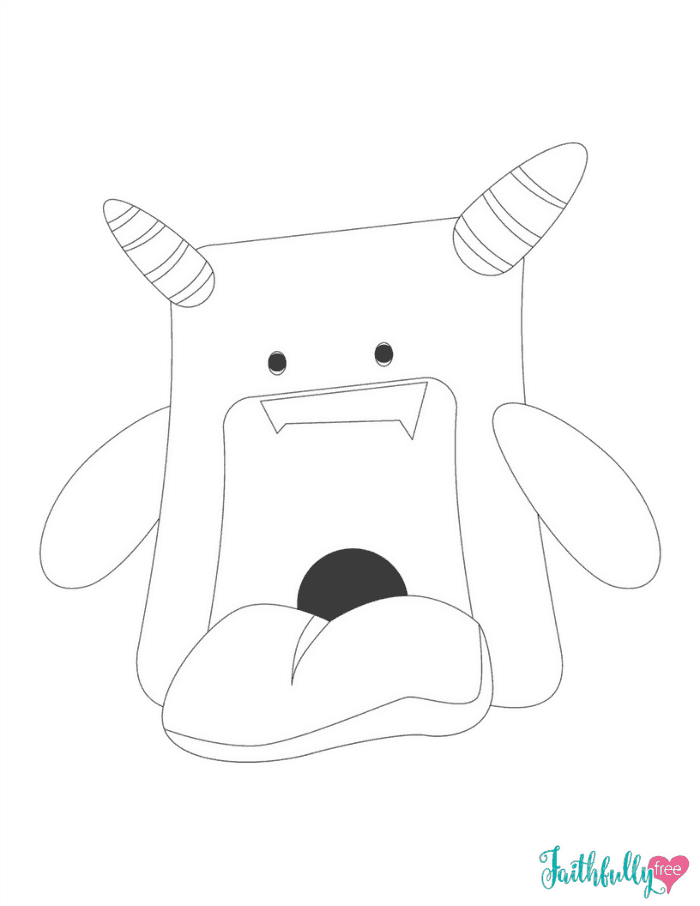Monster Coloring Pages {Free Printables} | Monster ...