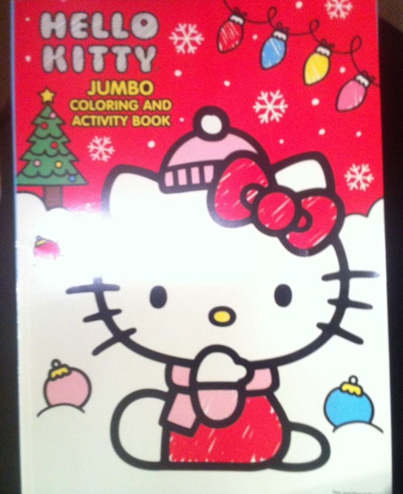 2014 hello kitty coloring and activity book snow & christmas tree