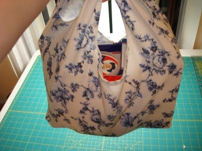 NthnButMoonshine: Grocery Bag Tutorial and Goodwill Score...