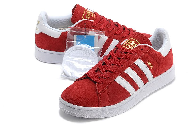 Adidas Australia Originals Campus Ii Casual Shoes Women \u0026 Men Red White  Running Shoes Budget Good