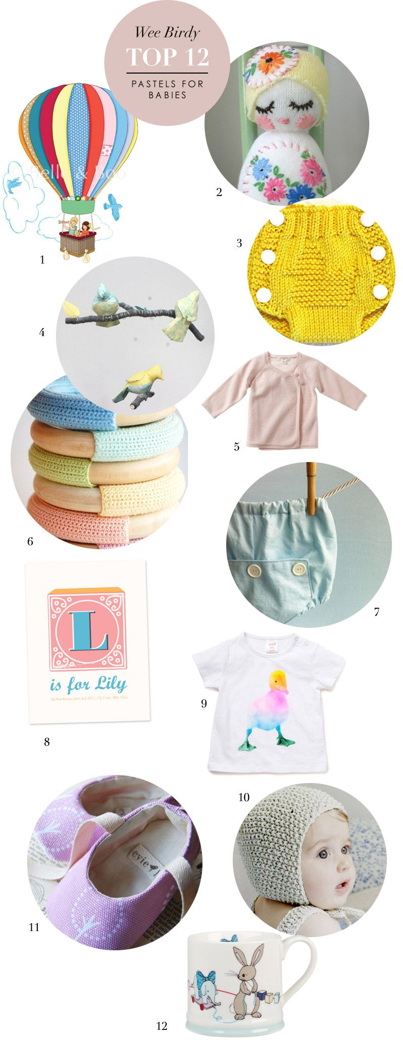 I'm on a bit of a roll with baby presents right now, and I thought you might like to see the rest of my pastel-hued favourites. Most of these presents I've sourced from Etsy, which is actually one of the best online shopping destinations for baby gifts. Prices start at £2.72 – if you knit …